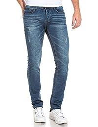 Deeluxe 74 - Jogg Jean worker bleu homme délavé usé et poche zip
