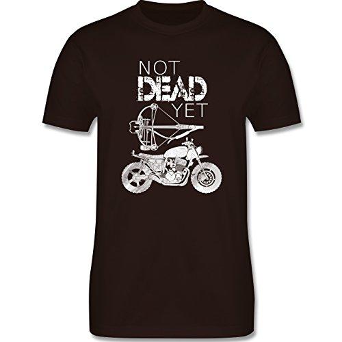 Statement Shirts - Not Dead Yet - Motorrad Armbrust - Herren Premium T-Shirt Braun