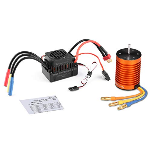 Gegenseitige Schutzfunktionen Brushless Power System Combo 4-poliger 3000KV-Motor (5,8 V / 3A BEC) für 1/10 RC-Car (Dimension 3000 Power Supply)