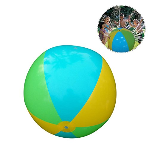 Starter 75 cm Summer Children's Outdoor Water Game Ball Spraying Water Beach Ball Lawn Juego de juguete Gran bola de chorro de agua inflable