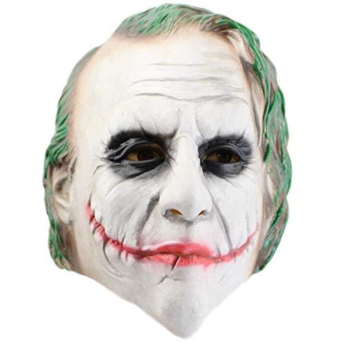 Dark Der Batman Joker Kind Knight Kostüm - SEJNGF Erwachsenen Batman Dark Knight Vollmaske Latex Joker Clown Maske Halloween Rollenspiel Kostüme Abschlussball Requisiten,Clown