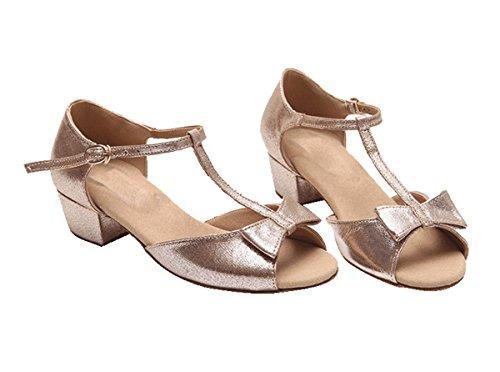 Miyoopark ,  Mädchen Tanzschuhe Gold-3.5cm Heel