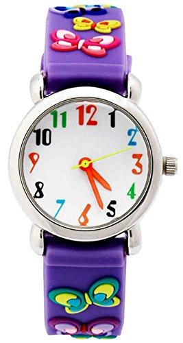 Kinder Analog Uhren für kleine Mädchen Jungen, Kinder Sportuhr mit 3D Cute Cartoon Silikon Strap, Kleinkind 3 Bars Wasserdicht Armbanduhr Time Teacher Digitaluhren Geschenke