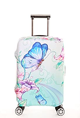 SINOKAL Luggage Covers DESIGNS 18-20 22-24 26-28 30-32 Inch Creative Color Printed Luggage Covers Spandex Travel Suitcase Protective Cover for Woman and Men(Note: Cover ONLY,suitcase not included)