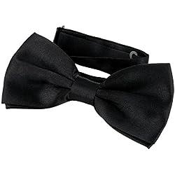 DonDon Pajarita Hombre elegante con gancho con nudo y ajustable color negro
