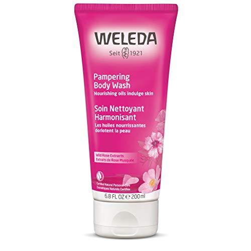WELEDA Wildrose Verwöhndusche, Naturkosmetik Pflegedusche zur weichen und zarten Pflege der Haut, Duschgel für trockene Haut mit harmonisierendem Duft (1 x 200 ml)