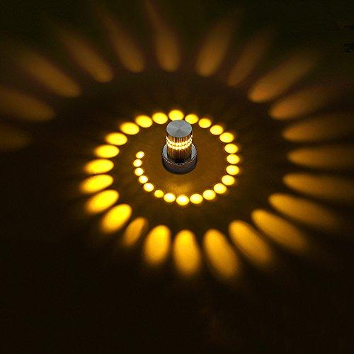 3W moderne kreative mehrfarbige praktische LED-Wand-Lampe Mini-Deckenlampe Schlafzimmer Wohnzimmer Edelstahl Wand Licht Bar Club Urlaub Nacht Dekoration ( Farbe : A )