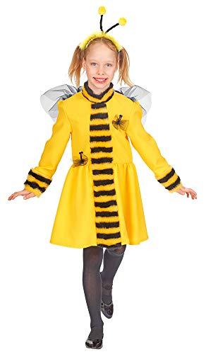 (Andrea Moden Bienen Kostüm für Mädchen - Kleid mit Haarreif Gr. 152)