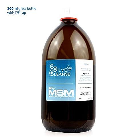 SilverCleanse Silver-MSM 45 (300ml Glass Bottle + TE Cap)