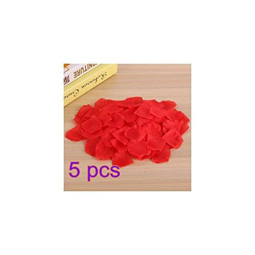 Rosenblätter 5000Pcs culticolor Künstliche Blütenblätter für Hochzeit Party Dekoration, rot, 5x5cm