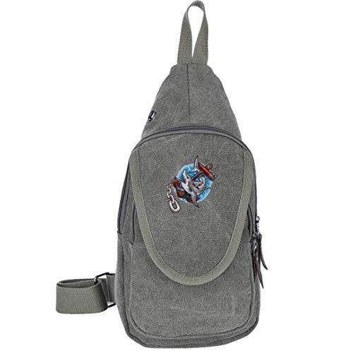 Tätowierungen von Alten Shark Fashion Schultasche Brusttasche Rucksack Schultertasche Umhängetasche Mode Triangle Rucksack Multitool für Erwachsene oder Jugendliche