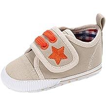 Zapatos de bebé, Auxma Zapatos de lona de las niñas niños bebés,Zapatos antideslizantes suaves,Sneakers infantiles Zapatillas Primeros pasos para 0-6 6-12 12-18 meses