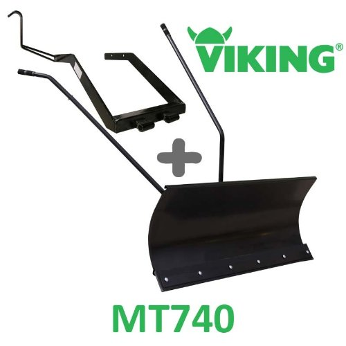 Lame à Neige 118 cm Noire + adaptateur pour Viking MT740