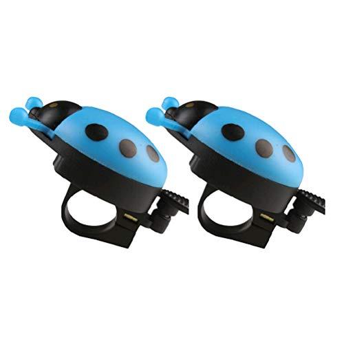 LIOOBO 2pcs Fahrradklingel Horn mit Marienkäferform Kinder Fahrradklingel Ringer Fahrradzubehör (Blau)