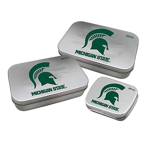 Worthy Promotional NCAA Michigan State Spartans Decorative Mint Tin 3-Pack with Sugar-Free Mini Peppermint Candies -