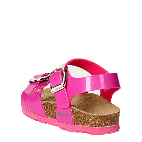 Grunland Luce filles, cuir lisse, sandales Fuchsia