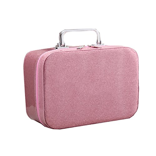 CLOTHES- Sacchetto cosmetico portatile portatile impermeabile multifunzionale portatile della borsa portatile cosmetica portatile Handmade ( Colore : Rose red ) Rosa