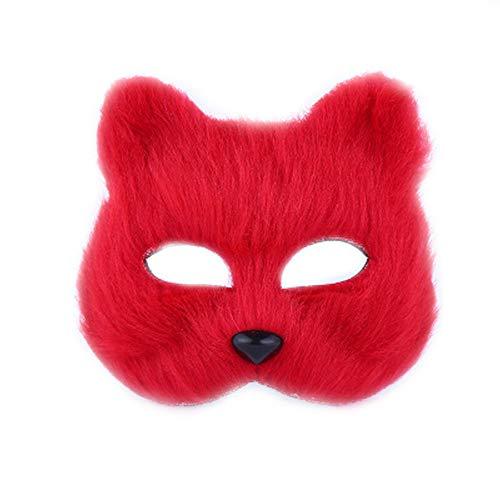 wachsene Maskerade Maske Tier männlichen und weiblichen halben Gesicht Prop Spielzeug ()