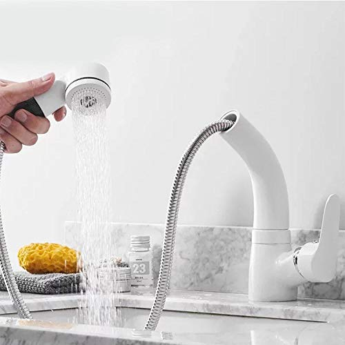 Einhandmischer Küchenarmatur Edelstahl Spültischarmatur Spülbecken Heißer und kalter Mischbatterie Spüle Feine kupfer pull wasserhahn einlochmontage waschbecken wasserhahn schwarz weiß wasserhahn