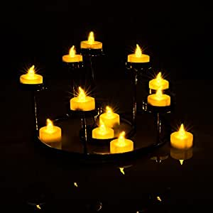 agptek lot de 100 bougie led piles avec flamme led vacillante decoration pour table party. Black Bedroom Furniture Sets. Home Design Ideas