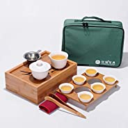 Portable Kungfu Tea Set Travel Outdoor Office Simple Use Chinese Porcelain Tea Cups Tea Trays Chinese Tea Sets Gifts Bag