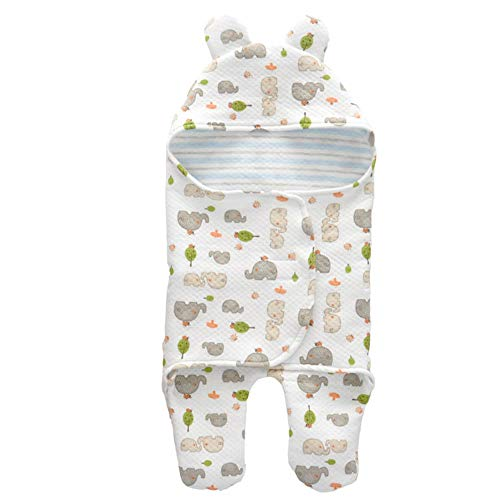 AZUO Sommer Baby Schlafsack 1 Tog - Simply Elephant, 0-6 Monate / 70 cm