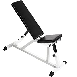 Physionics Multi Angle Adjustable Weight Bench Home Gym Fitness Exercise