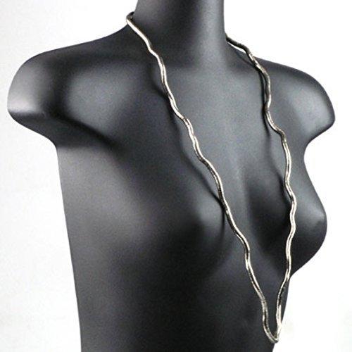 Preisvergleich Produktbild Schlangen Halskette - silbern - Ethno - 4 mm