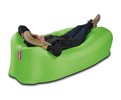 Lounger to Go Matelas gonflable chaise longue plage Position assise, vert
