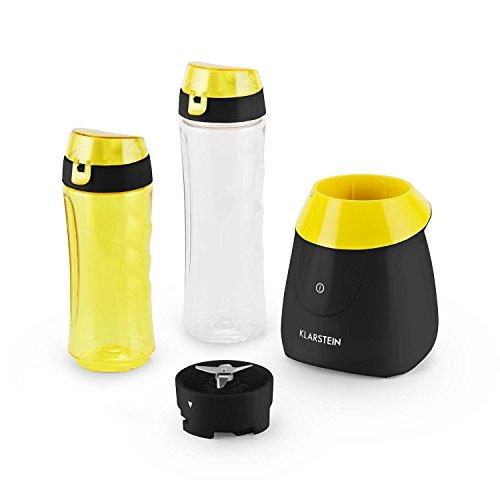 Klarstein Paradise City batidora de vaso compacta 300 W de potencia, compacta, libre de BPA, cuchilla...