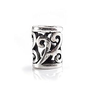 Battle-Merchant Keltische Haar- und Bartperle aus Silber Spiralmuster Wikinger Innendurchmesser 2mm