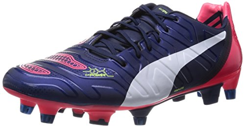 Puma Evopower 1.2 Mixed Sg, Chaussures de football homme Bleu - Blau (peacoat-white-bright plasma 01)