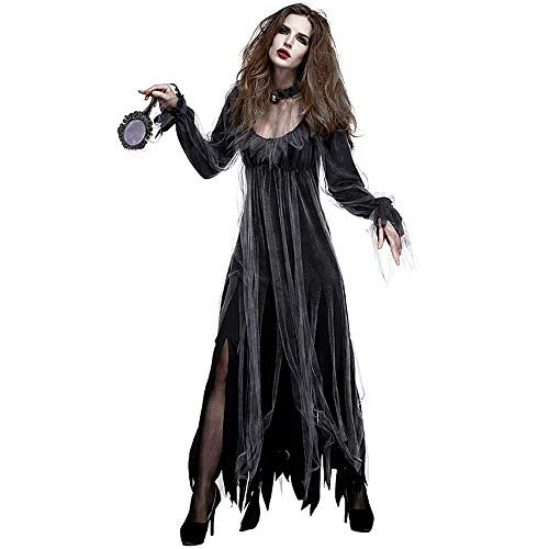 GIFT ZHIZHUXIA Halloween-Kostüm der Geisterbraut der Frauen Halloween für Bar, Partei, Maskerade, Bühnenperformance Erwachsener Weihnachtsfeier Kleid Requisiten (Farbe : Photo Color, größe : ()
