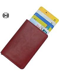 dffc4fc28c Portafoglio in pelle per carta di credito, Portafoglio per donna,con la  chiusura di RFID, Portafoglio per carta di…