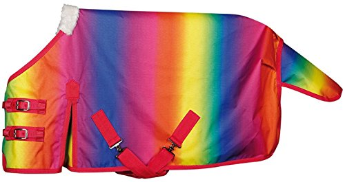 Harry\'s Horse Regendecke Rainbow mit Nylonfutter Minishetty Gr. 110 cm