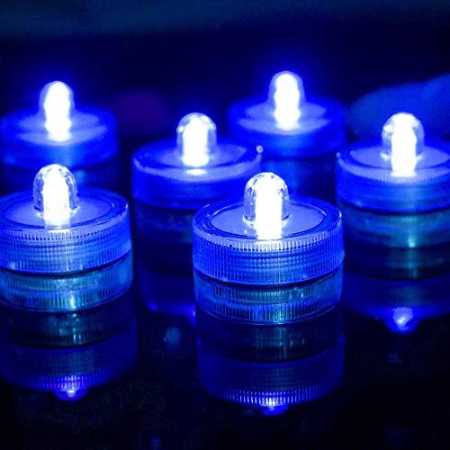 Wangzj candela elettronica/candela led per immersione/decorazione bar impermeabile per acquario/puntelli matrimonio/luce blu