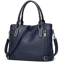 d128275a701a9 Damen Handtasche Leder Henkeltasche Top Griff Tasche Vintage Weiches  Umhängetasche Schultertasche für Frauen