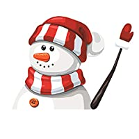 Glomixs Christmas Rear Window Wiper Stickers, Santa Clause/Snowman Waving Wiper Sticker for Cars Decoration - Reusable Car Back Windshield Waver Tags - Father Gift