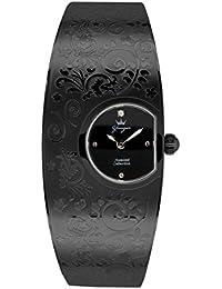 Yonger pour elle DMN 1475/01 D - Reloj para mujeres, correa de acero inoxidable color negro