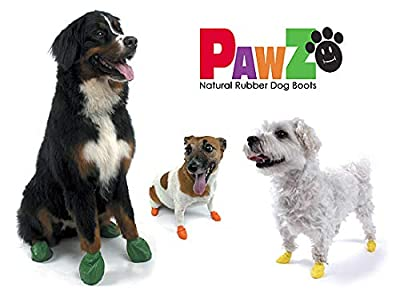 Pawz Waterproof, Disposable and Reusable Rubber Dog Boots Keeps Paws Healthy by Warding Off Allergens, Chemicals and Mud by Pawz LLC