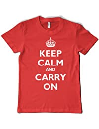 KEEP CALM AND CARRY ON T-Shirt - 10 Colours