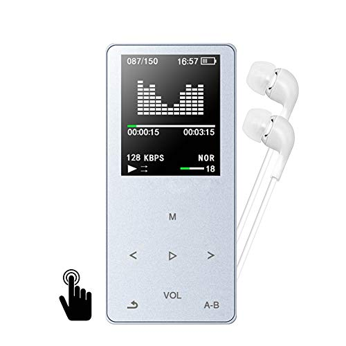Lecteur MP3, GotechoD baladeur MP3 MP4 8GB Taille d'Écran 1.8 Pouce Haut-Parleur intégré, autonomie de 80h, Dictaphone, Radio FM, E-Book, chronomètre, Réveil, Extensible jusqu'à 128GB