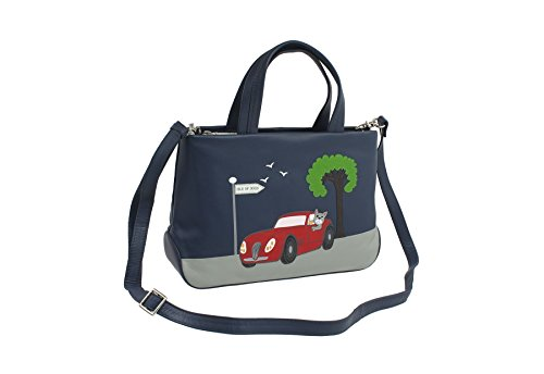 Mala en cuir Collection Sac en cuir BEAU Grab - épaule détachable Sangle 798_89 Marine bleu marine