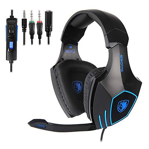 Einfach Leben Gaming Kopfhörer Gaming Premium Stereo mit Mikrofon für PS4 PC Xbox One, Gaming Headset mit Bass Surround Geräuschunterdrückung