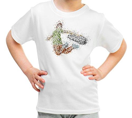 Skate Kinder T-Shirt Sport 180g. Premium Qualität Schnelltrocknung (134) (Hose Kleid Benutzerdefinierte)