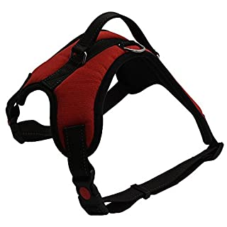 ARIKON® Dog Harness,Dog Vest, No Pull Effect,Reflective Adjustable Strap,Lightweight,Breathable,Strong and Durable,Specially Designed for Large and Medium