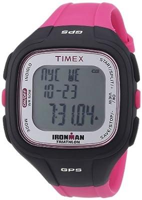 Timex Timex Ironman Easy Trainer GPS T5K753 - Reloj digital de cuarzo unisex, correa de plástico color rosa de Timex