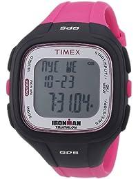 Timex Timex Ironman Easy Trainer GPS T5K753 - Reloj digital de cuarzo unisex, correa de plástico color rosa