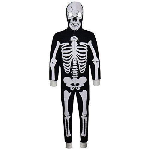 A2Z 4 Kinder Kinder Mädchen Jungen Designer Skelett Aufdruck A2Z Einteiler ein Teil Alles in eins Einteiler Halloween Kostüm Alter 5 6 7 8 9 10 11 12 13 Jahre (Halloween Jungen Kostüme Jahre Für Elf Alten)