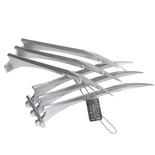 DMAR 2 stücke 25*8cm Wolverine Claws ABS 1: 1 Movie Requisiten X-Men Geschenk Cosplay Für Immer Logan + Eine vielfraß Halskette ALS Geschenk
